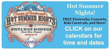 Myrtle Beach Boardwalk Hot Summer Nights