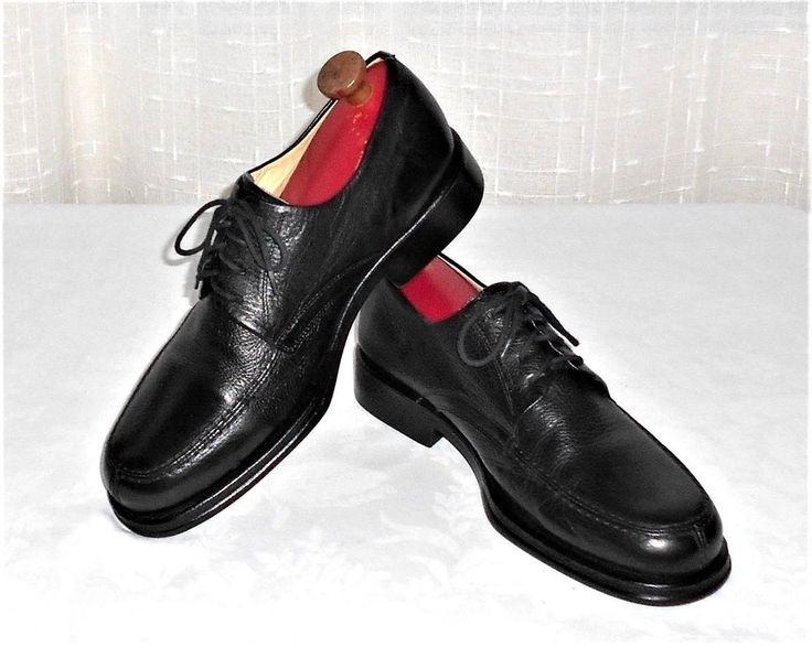Sandro Moscoloni Vineyard Black Leather Split Toe Oxford Shoe Men's Size 10 D #SandroMoscoloni #Oxfords