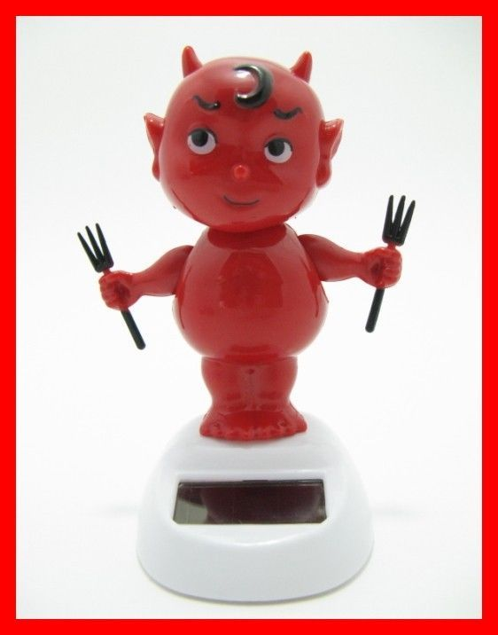 Solar Toys Valentine : Solar dancing devil toy flip flap crazy dancer bubble head