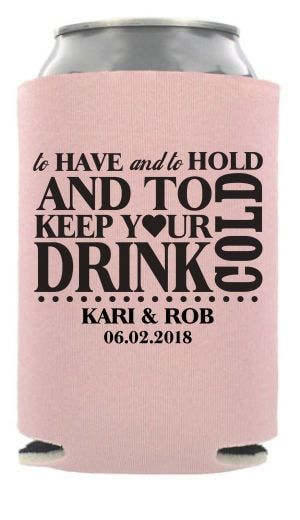 Personalized Wedding Can Coolers Are Perfect Favors For Your Day We Have The Lowest Prices Hundreds Of Designs Ready To Customize Online