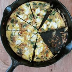 Spinach and Goat Cheese Frittata by Jessica Seinfeld