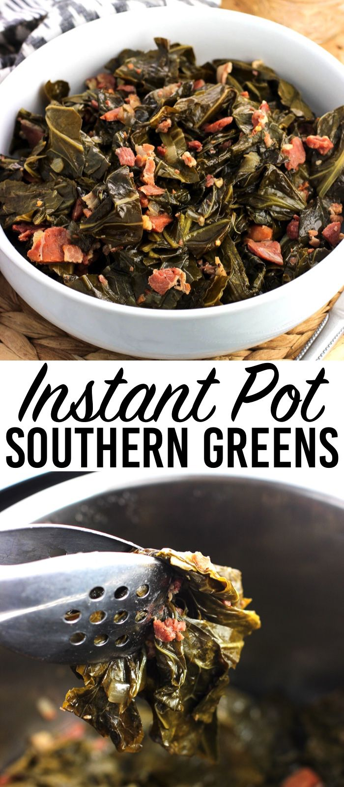 Instant Pot collard greens are a Southern-inspired side dish made much quicker i…