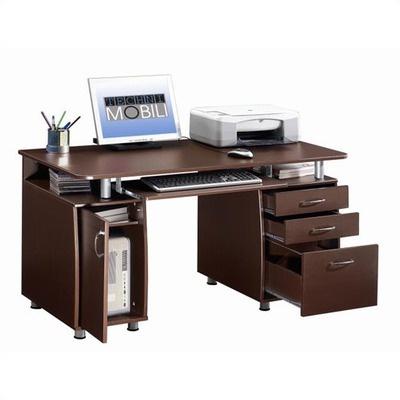 techni mobili super storage computer desk bestselling inculdes drawers
