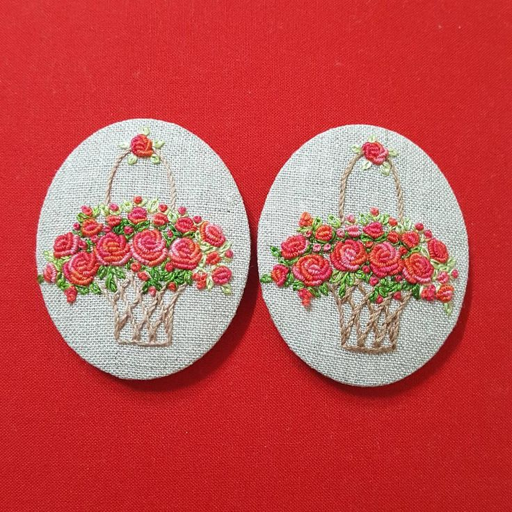 #Embroidery #프랑스자수 #꽃바구니 #handmade #gachi