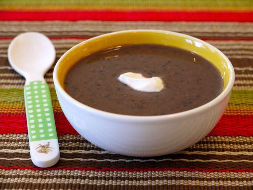 Crock Pot Black Bean Soup from Weelicious (http://punchfork.com/recipe ...
