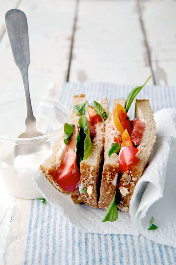 Heirloom Tomato & Basil Sandwiches