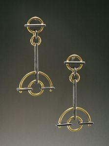 Semi-Circle Earrings: Ben Neubauer: Silver & Gold Earrings | Artful Home