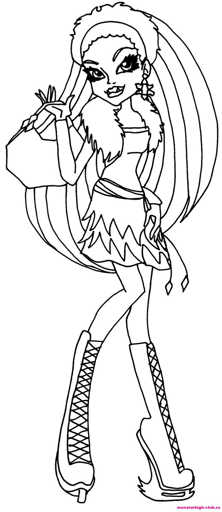 Monster high Frankie Stein coloring page. Monster High