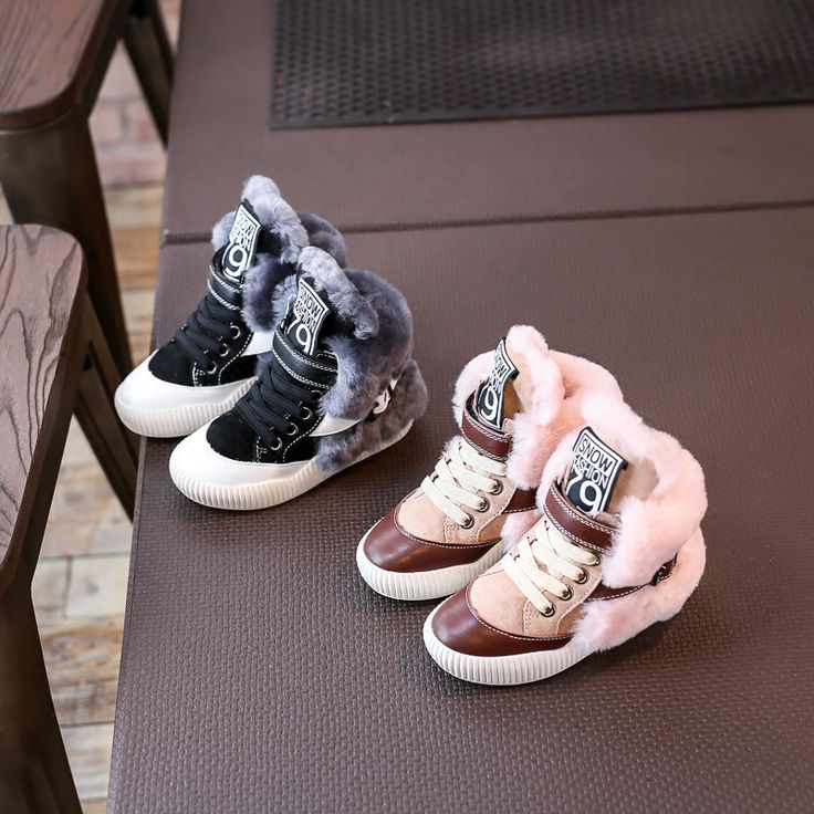 Find More Sneakers Information about Nauhutu Designer's Expensive Nature  Fur Kids Shoes Australian Winter Boots Cotton Padded Wool Lining Children  Sneakers ...