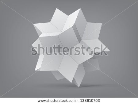 rhombic hexecontahedron for graphic design, you can change the color keeping the same form