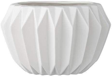 """3R Studios Ceramic Fluted Flower Pot - White (6"""")"""