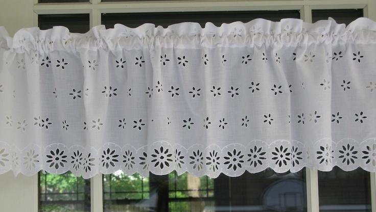 White Eyelet Curtain Valance. @Susy Koujak-Matt Fry