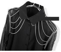 Moda 2015 mujeres del hombro bijoux aleación de plata hombro cadenas joyería del cuerpo para mujer la alta calidad