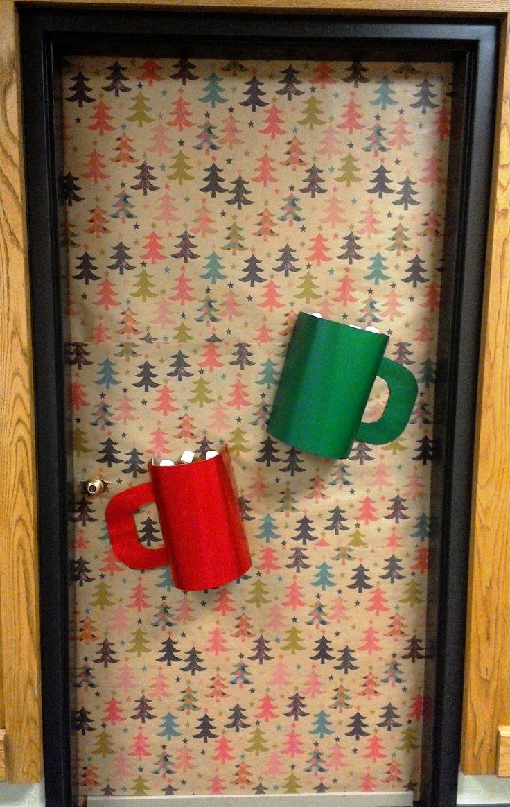 Hot Chocolate Christmas Door