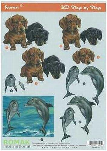 Nieuw bij Knutselparade: 0724 3D vel Romak Honden Dolfijn P0-600-19 https://knutselparade.nl/nl/dieren/8056-0724-3d-vel-romak-honden-dolfijn-p0-600-19.html   Knipvellen, Dieren  -
