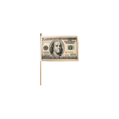 FlagsImporter Hundred Dollars Traditional Flag and Flagpole Set