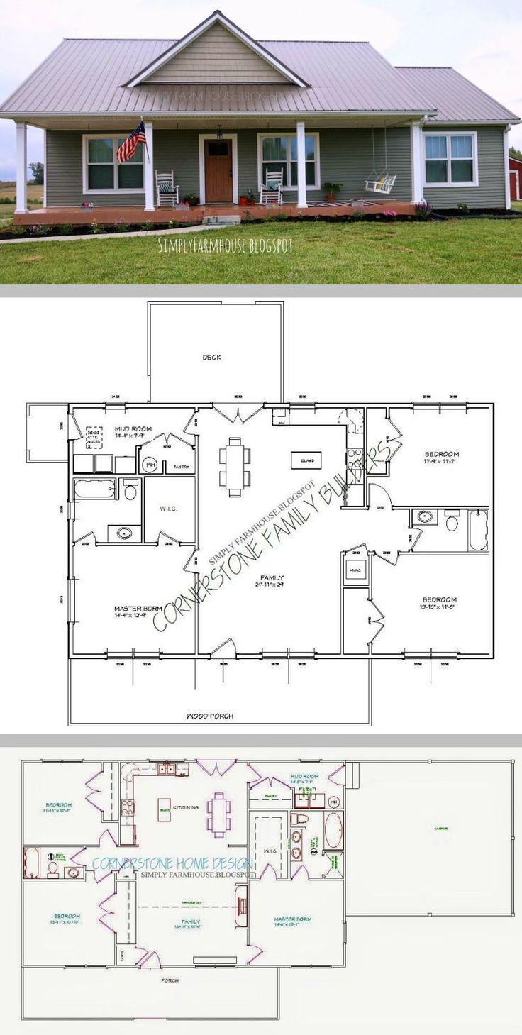 311 best cottage cabin images on pinterest bonheur for House plans with offset garage