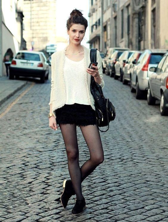Черные капроновые колготки летом можно носить