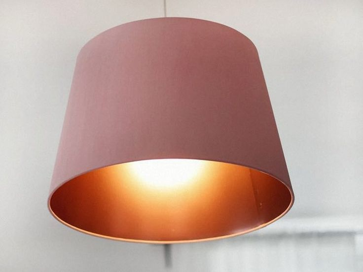 DIY-Anleitung: Lampenschirm mit Kupferspray verschönern via DaWanda.com