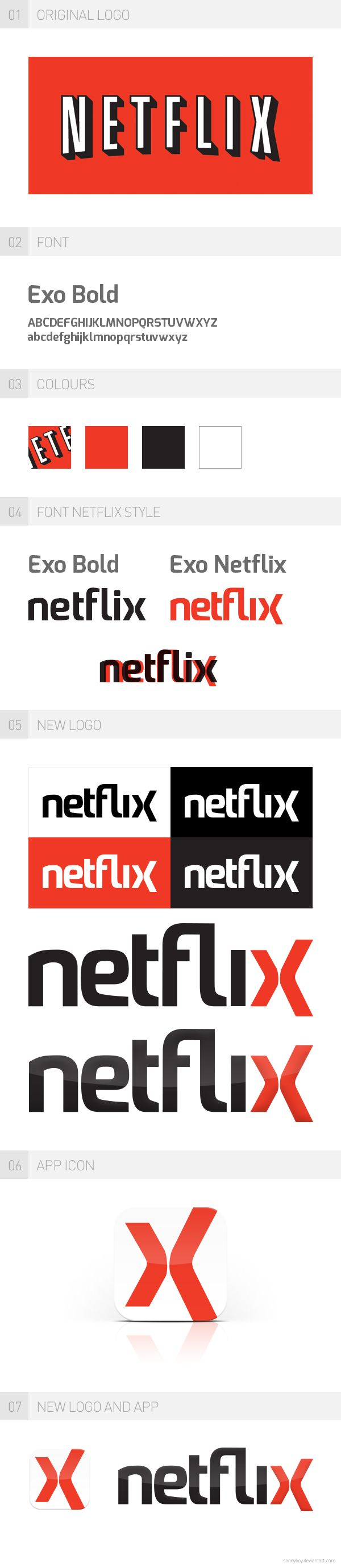 Netflix Redesign 2013 by Sonny Nordström, via Behance