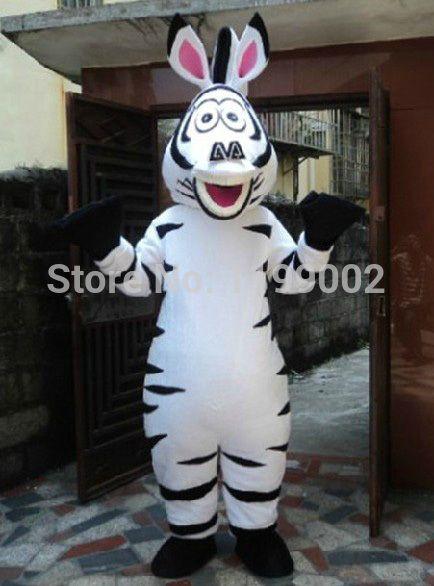 Madagascar Zebra Mascot CostumeModel  horse plush mascot Free shipping #Affiliate