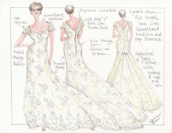 Wedding Dress Sketch Gift: 17 Best Ideas About Wedding Dress Sketches On Pinterest