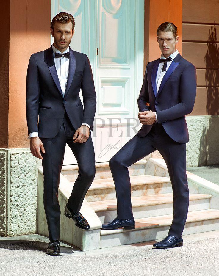 EG SMOKING 1 SX -  EG SMOKING 2 DX #sposo #groom #suit #abito #wedding #matrimonio #nozze #blu #blue #papillon