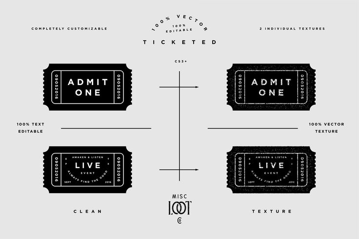 Ticketed by Misc. Loot Co. on @creativemarket