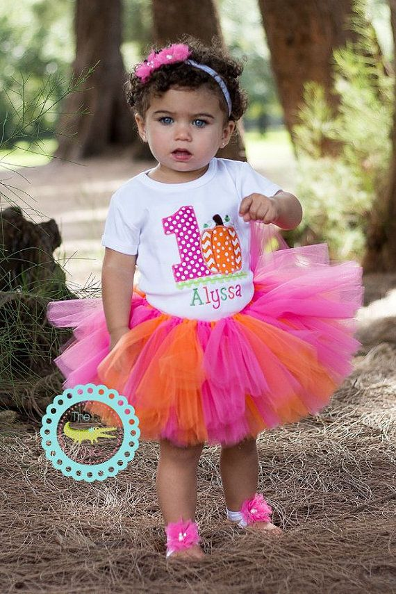 Baby Girl 1st Birthday Pumpkin Outfit, This Pumpkin is 1,Birthday Party-Photos-Dress Up, first birthday, toddler birthday outfit