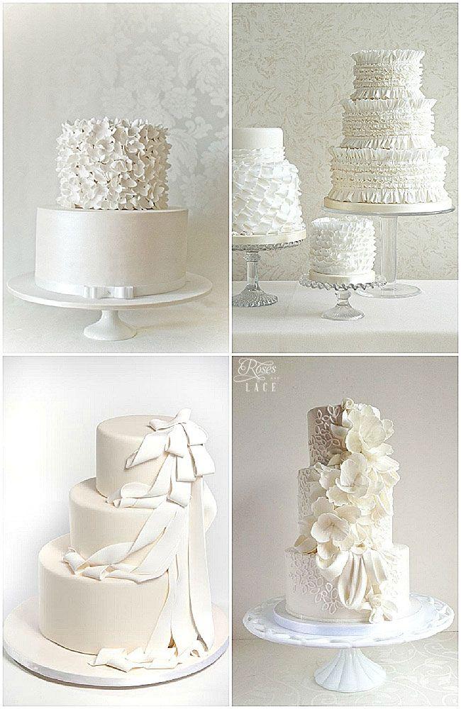 Romantic Ruffles, Rose Petals & Lace Wedding Cakes Roses ...