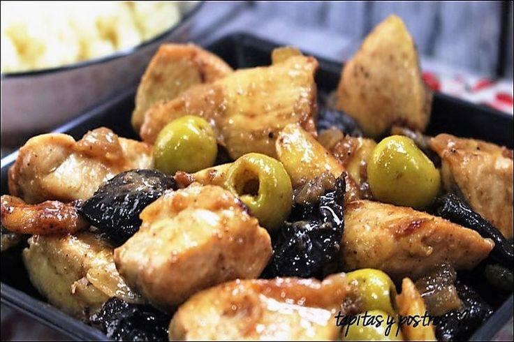 """Pollo a la moruna Vaya receta que nos han preparado hoy desde el blog """"Tapitas y postres"""". Una adaptación de una conocida receta marroquí que tiene una pinta buenísima. No…"""