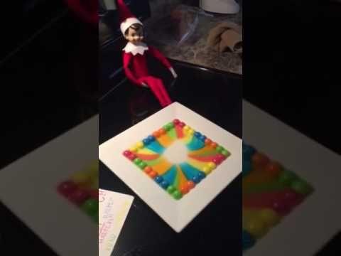 Elf on the Shelf Skittles Experiment! - YouTube