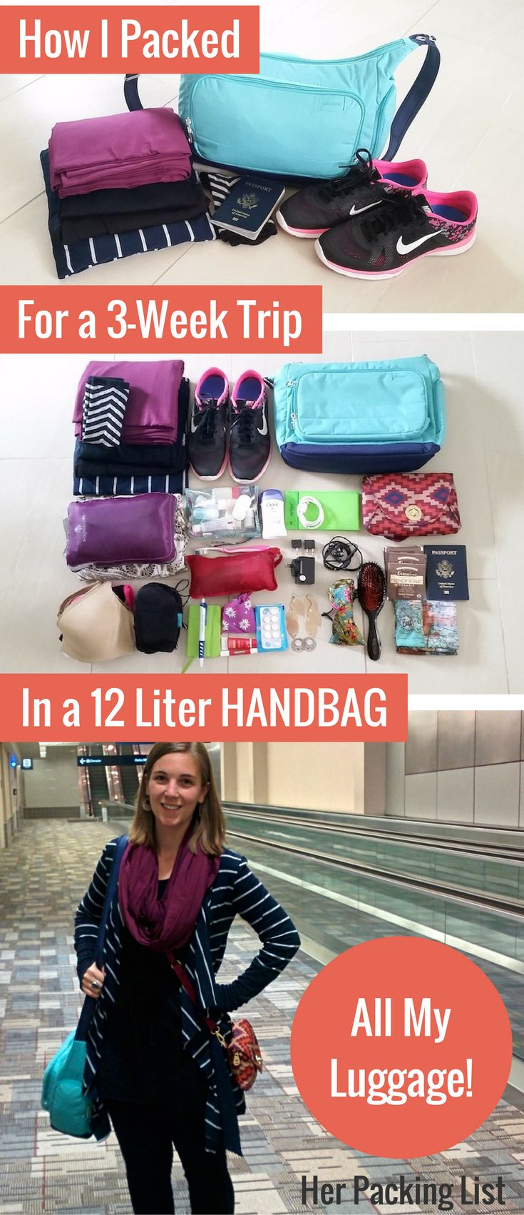 I traveled for over 3 weeks with the contents of a well-packed 12L handbag and a well-planned ultralight packing list. If you dream of minimalist travel, this p
