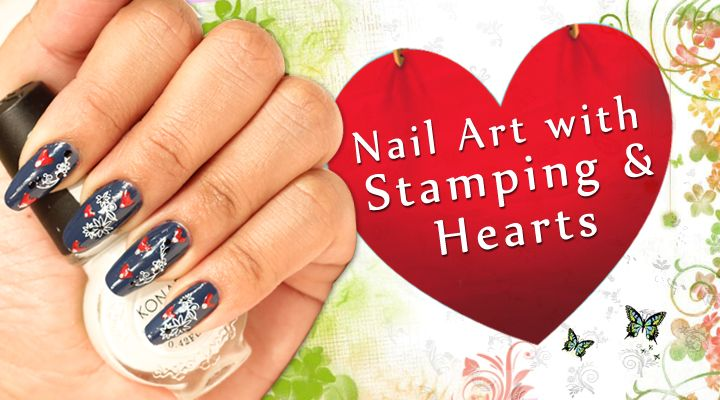 How to Stamping Nail Art with Heart -- via wikiHow.com
