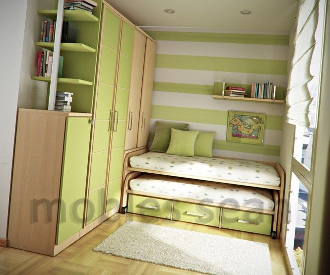 Apartment, Cool Green Kids Room Design Ideas: Space Saving Designs for a Boy