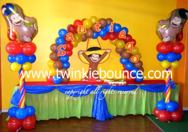 Curious George Birthday Balloon Decoration Photo:  This Photo was uploaded by twinkiebounce. Find other Curious George Birthday Balloon Decoration pictur...
