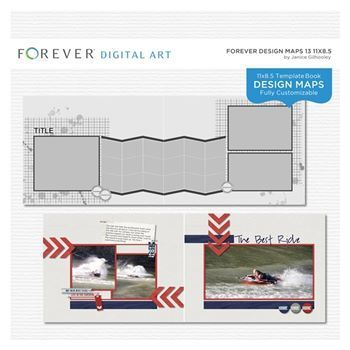Forever Design Maps 13 11x8.5 This photo-ready Design Maps template is fully customizable for 11 x 8.5 pages. Includes 1 cover and 21 pages.