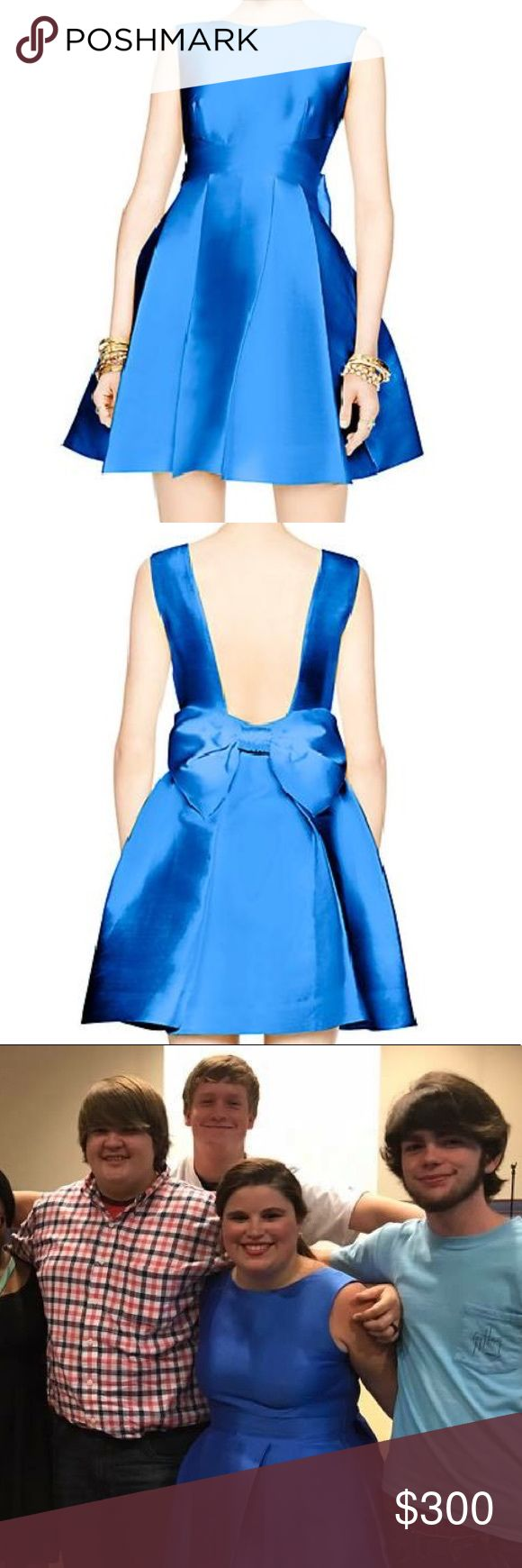Kate spade open bow back dress COMING SOON!!!  Please like for updates!  Size 12 Kate spade blue back bow dress. It has pockets!!!!!!  Measurements coming soon!!!! kate spade Dresses