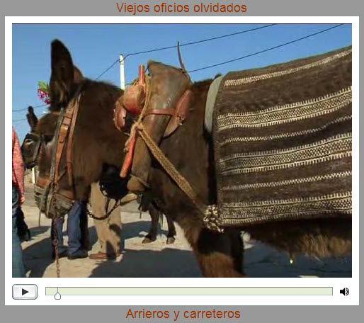 """Viejos oficios olvidados:  """"Arrieros y carreteros"""" Villalcampo, Toro (Zamora); Castil de Lences (Burgos); León; Tineo (Asturias). Arrieros y carreteros recorrieron los viejos caminos castellanos y leoneses transportando todo tipo de mercancías con carros, carretas o a lomos de burros, mulos o caballos. Hoy, ya no quedan animales de carga, aunque aún podemos ver pueblos donde el burro sigue siendo un fiel colaborador en tareas agrícolas y de... Cortesía de """"Ancha es Castilla y León"""" (España)."""