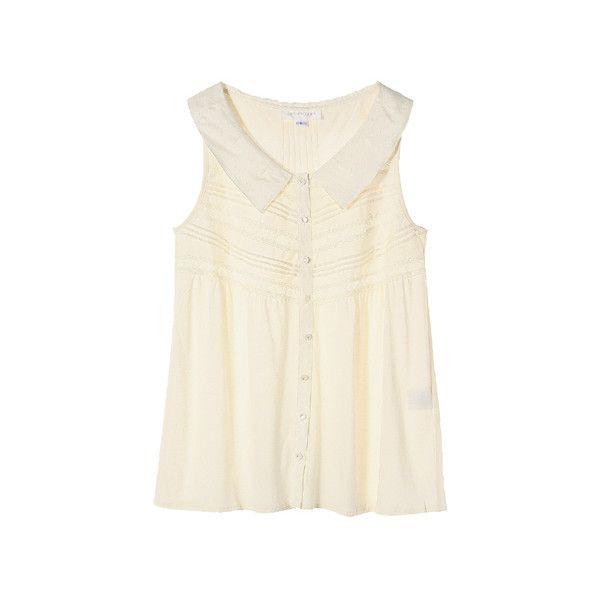 【ELLE SHOP】タック&レースカットソーホワイト|ジル スチュアート(JILLSTUART)|ファッション通販 エル・ショップ found on Polyvore