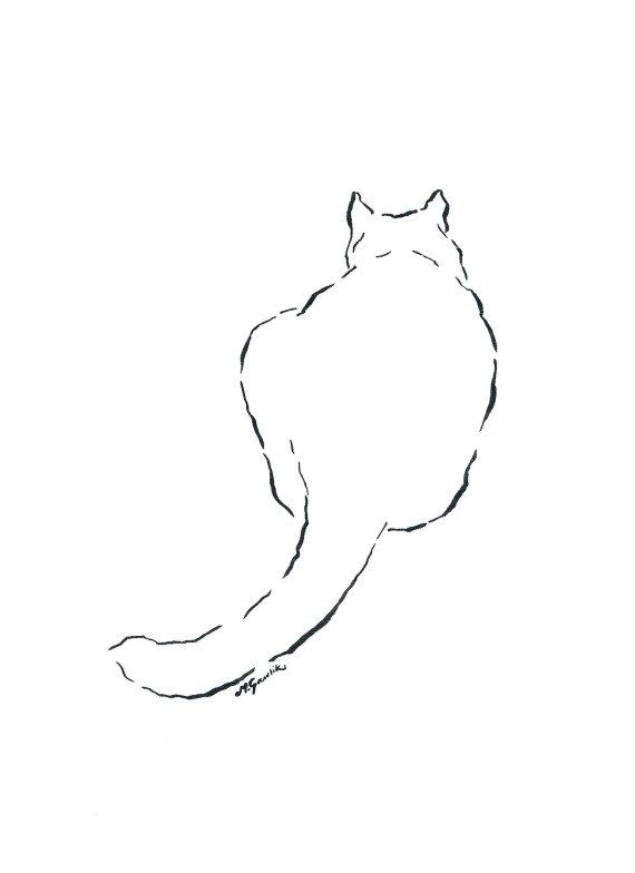 """WHIMSICAL CAT ^^^^ """"The most poor cat is a masterpiece""""...    (Leonardo da Vinci Quote) ^^^^  Interesting simple, minimalistic ink drawing with a soul for cat lovers. Project for kids and not only..."""