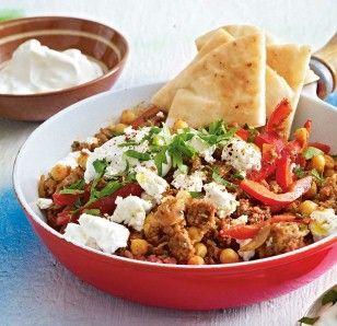 Grieks 1 pans gerecht met gehakt en feta