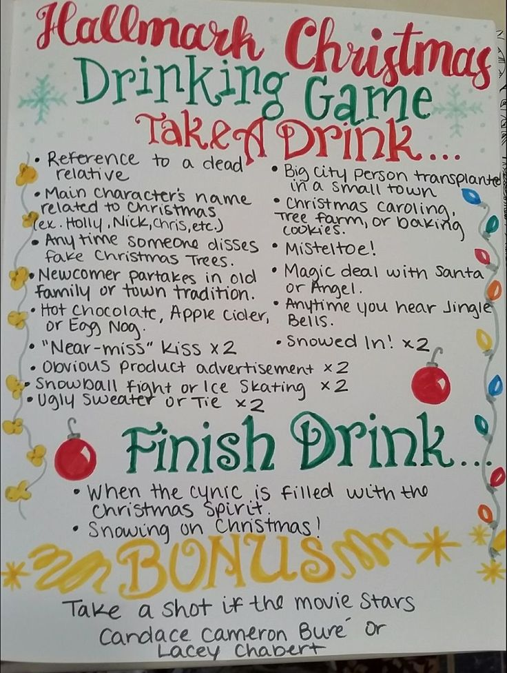 This Woman's Hallmark Christmas Movie Drinking Game Wins the Holidays - CountryLiving.com