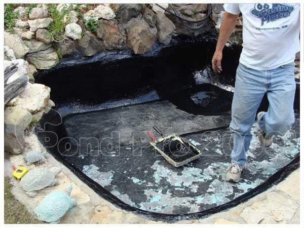 63 best fish pond repair images on pinterest fish ponds for Koi pond repair