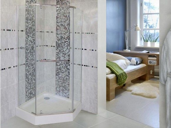 Semi Frameless Pentagonal Shower Enclosure Ctm