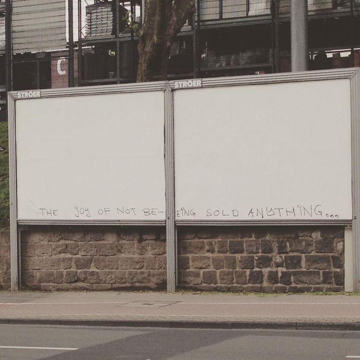 """Gefällt 10 Mal, 1 Kommentare - Huami (@hu.am.i) auf Instagram: """"#joyofnotbeingsoldanything #streetart #adbust #revolution will not be #advertised"""""""