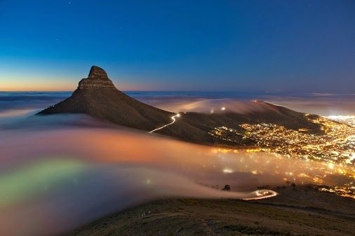 Cape Town: Table Mountain at night
