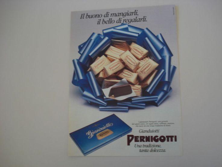 advertising Pubblicità 1988 GIANDUIOTTI PERNIGOTTI