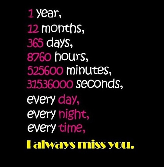 I Miss You So Much My Love, It Hurts Like Hell!
