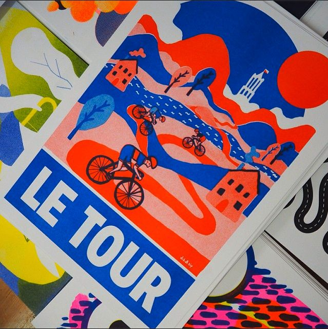 Poster for de Tour de France Ellen de Bruijn Illustration